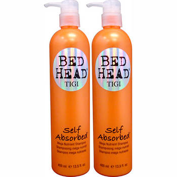 TIGI Bed Head Self Absorbed Mega Nutrient Shampoo, 13.5 Fl. Oz., 2-Pk