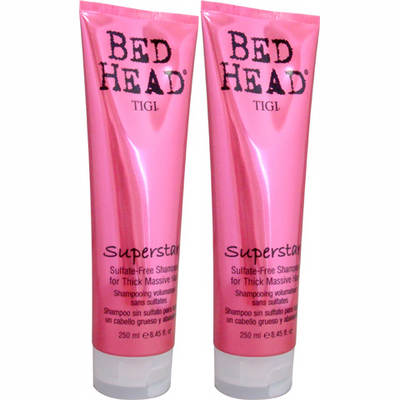 TIGI Bed Head Superstar Sulfate-Free Shampoo, 8.5 Fl. Oz., 2-Pk