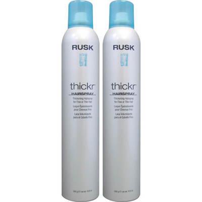 Rusk Thickr Thickening Hairspray for Fine or Thin Hair, 10.5 Oz., 2-Pk