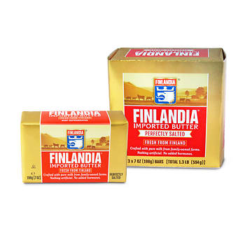 Finlandia Imported Salted Butter, 3 pk./7 oz.