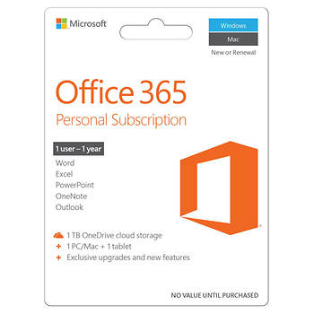 Microsoft Office 365 Personal 2016 Subscription