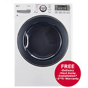 LG 7.4-Cu.-Ft. Steam Electric Dryer - White