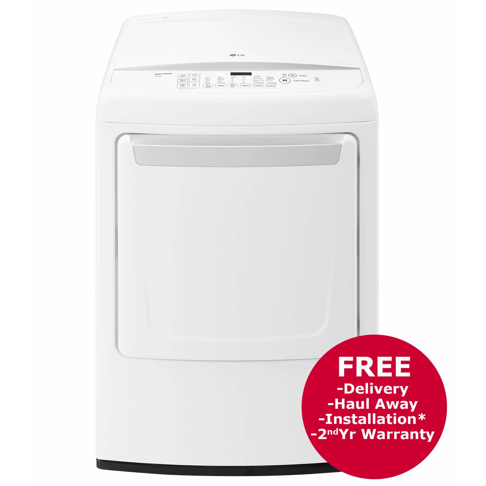 Lg Sensor Dryer ~ Lg cu ft sensor dry gas dryer white bj s