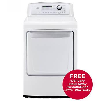 LG 7.3-Cu.-Ft. Sensor Dry Gas Dryer - White