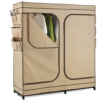"Honey-Can-Do 60"" Double-Door Storage Closet with Shoe Organizer"