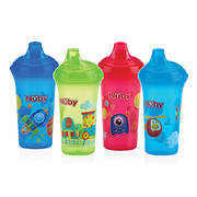 Nuby Hard Spout Printed Cups, 4 pk. - Assorted