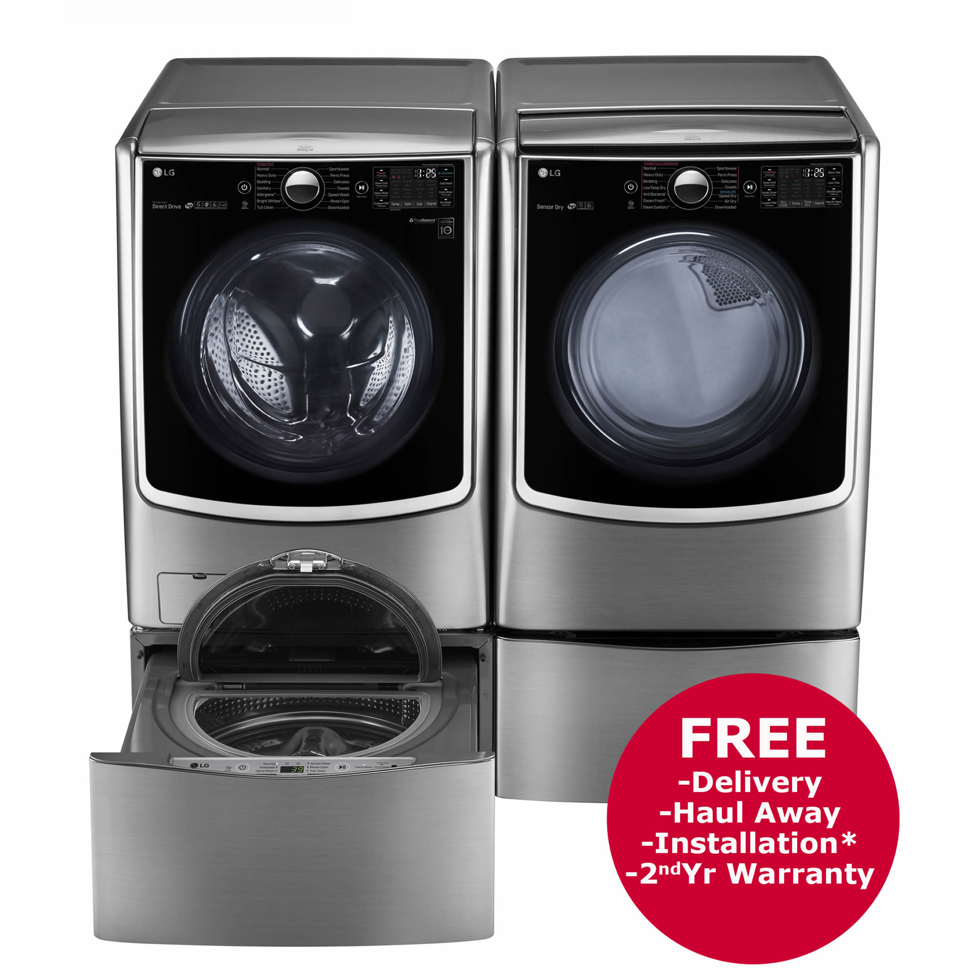 Lg Front Load Steam Washer And Turbosteam Gas Dryer With