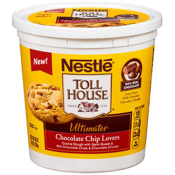 Nestle Toll House Chocolate Chip Lovers Cookie Dough, 80 oz.