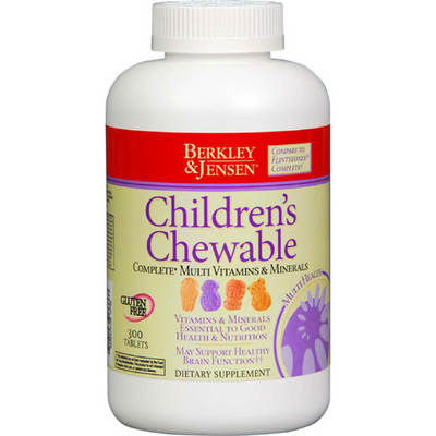 Berkley & Jensen Children's Chewable Tablets Vitamins - 300 Count