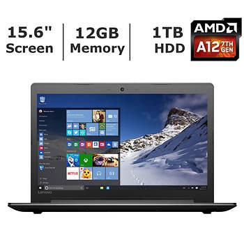 Lenovo Ideapad 310 Laptop, AMD A12-9700P, 12GB Memory, 1TB Hard Drive