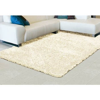 "Meadows 7 3/6"" x 9 3/6"" Shag Rug - Solid White"