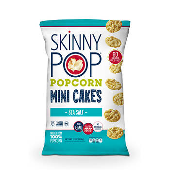 Skinny Pop Sea Salt Mini Popcorn Cakes, 13 oz.