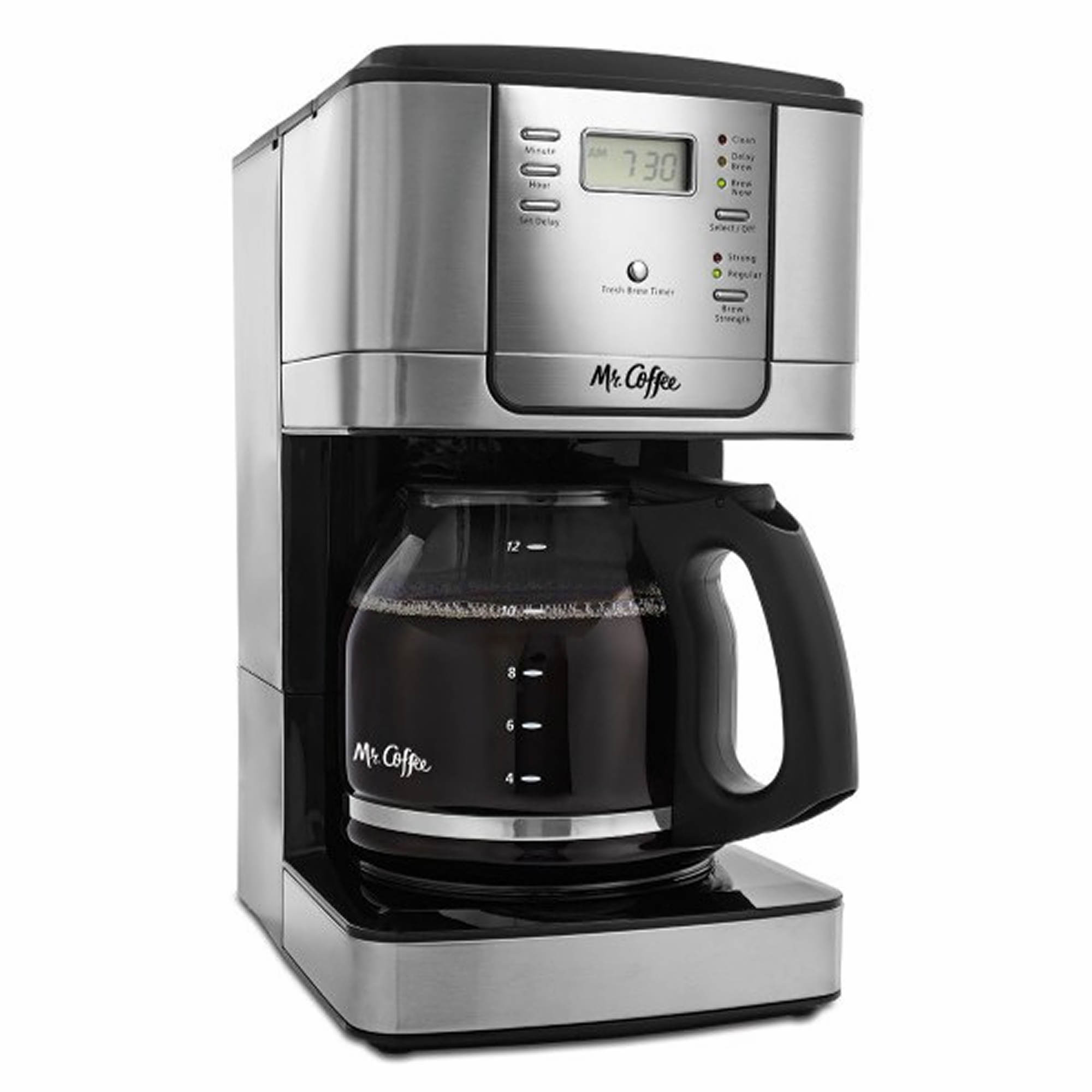 Mr. Coffee 12-Cup Programmable Coffee Maker - Black/Stainless Steel - BJ s Wholesale Club