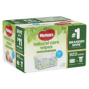 Huggies Natural Care Unscented Baby Wipes Refill Pack, 920 ct.
