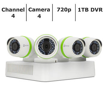 EZVIZ 4-Channel 4-Camera 720p Security System with 1TB HDD DVR