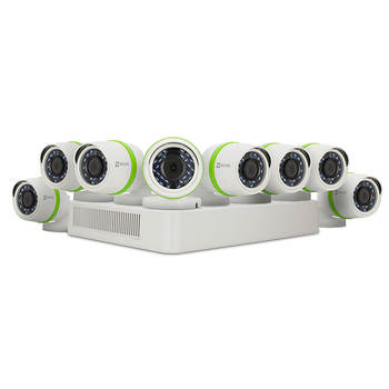 EZVIZ 8-Channel 8-Camera 1080p Security System with 2TB HDD DVR