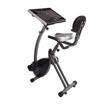 Stamina WIRK Ride Exercise Bike Workstation with Bonus Mat