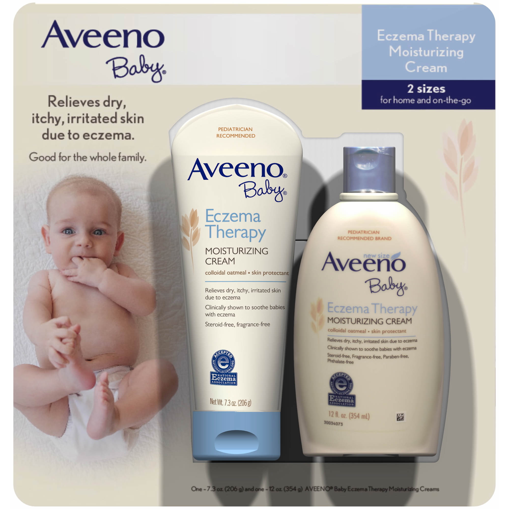 Best crib sheets for baby with eczema - Aveeno Baby Eczema Therapy 2 Ct