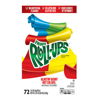 Betty Crocker Blastin' Berry Hot Colors Fruit Roll-Ups, 72 ct.