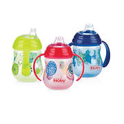 Nuby Clik-it No-Spill 2-Handle Cups, 3 pk. - Assorted