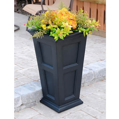 Fairview Tall Planter - Black