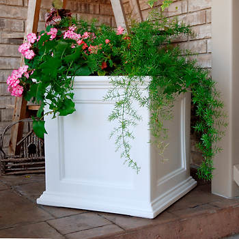 "Fairview 20"" x 20"" Patio Planter - White"