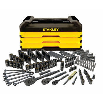 STANLEY 203-Pc. Mechanics Tool Set with Metal Storage Box