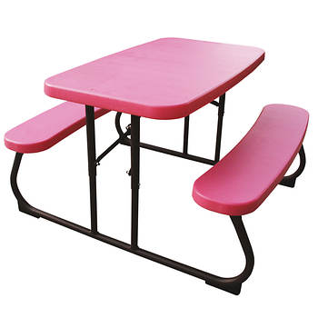 Lifetime Kids' Picnic Table (Pink/Bronze)