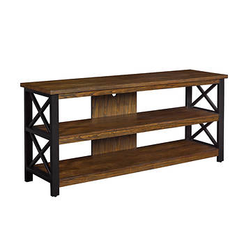 Bell'O Open Concept TV Stand - Prairie Brown