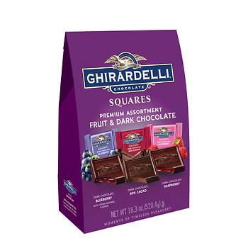 Ghirardelli Squares Fruit and Dark Chocolate Premium Assortment, 18.3 oz.