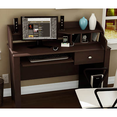 South Shore Compact-Fit Desk (Chocolate)