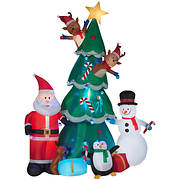 Gemmy Animated Christmas Tree Scene Inflatable
