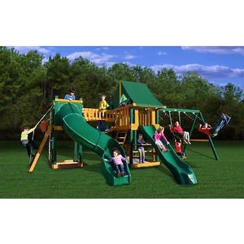 Gorilla Playsets Savannah Swing Set with Radical Tube Slide