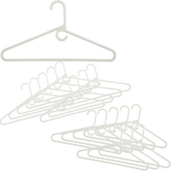 Heavyweight Plastic Hangers, 18 pk. - White