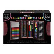 Art 101 Deluxe 201-Pc. Art Set in Wooden Case