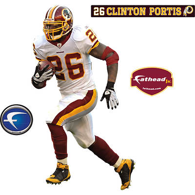 Fathead Junior Washington Redskins Clinton Portis Wall Graphic