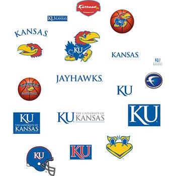 Fathead Junior Kansas Jayhawks Team Logo Assortment Wall Graphic