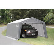 Shelter It 12' x 20' Steel/Fabric Instant Garage - Gray/White