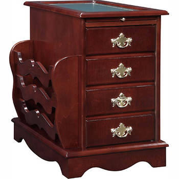 Powell Magazine Cabinet Table - Heirloom Cherry