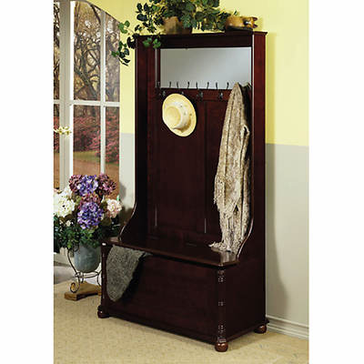 Powell Hall Tree with Storage Bench - Heirloom Cherry