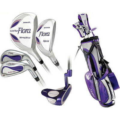 Flora Girls' Right-Hand Combo Golf Club Set