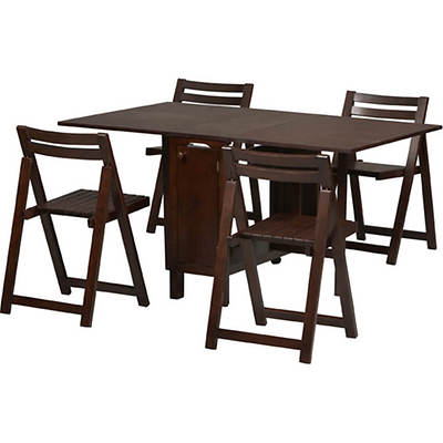 Linon Space Saver 5-Piece Dining Set - Wenge