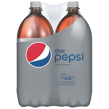 Diet Pepsi Soda, 2 Liters, 4 Bottles