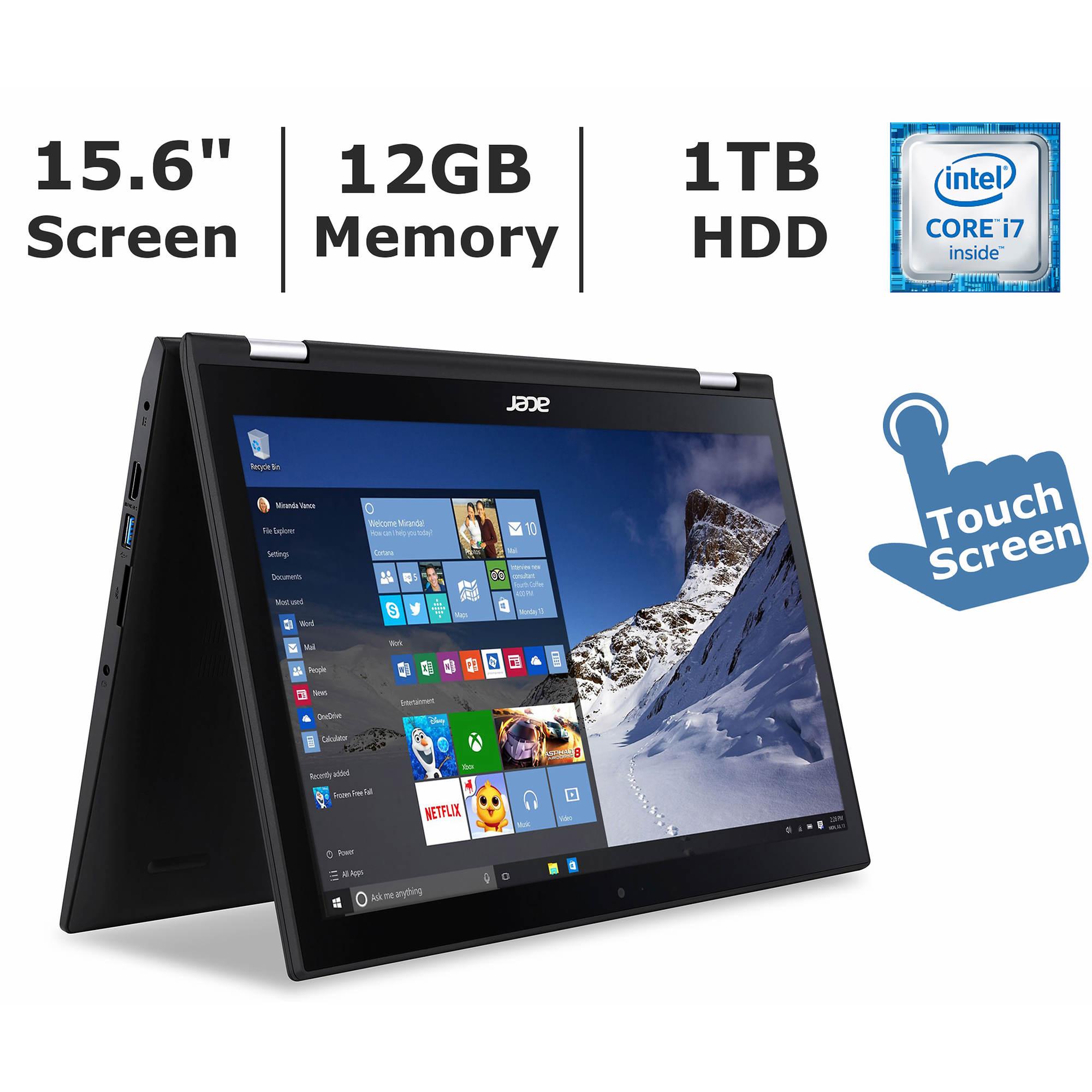 bjs acer 15 6 inch spin 3 laptop intel core i7 6500u 12gb 1tb 550. Black Bedroom Furniture Sets. Home Design Ideas