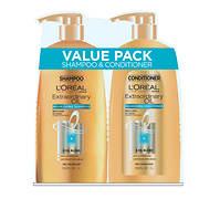 L'Oreal Extraordinary Oil Shampoo, 33.8 fl. oz. and Conditioner, 33.8