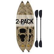 Lifetime Tamarack 10' Sit-On-Top Angler Kayak, 2 pk. - Tan