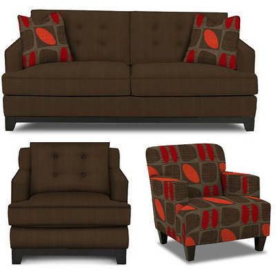 Stylecraft Designs Aaron Living Room Collection - Chocolate Brown