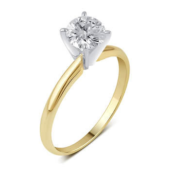 .33 ct. t.w. Round Diamond Solitaire Ring in 14K Yellow Gold