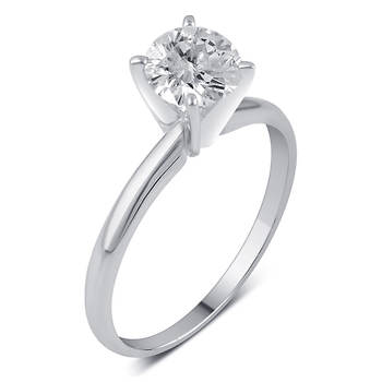 .75 ct. t.w. Round Diamond Solitaire Ring in 14K White Gold