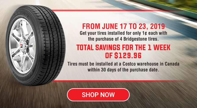 This week only - save up to $129 96 on Bridgestone tires! deals